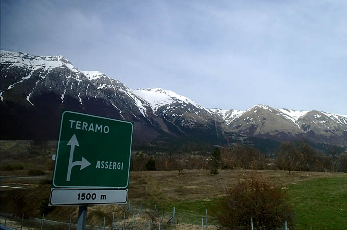 On the road to Teramo
